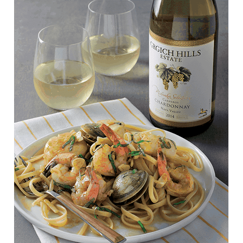 Linguine with Clams, Shrimp and Scallops